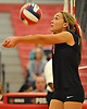 Pierson No. 9 Maizy Guyer makes a set during the Suffolk County varsity girls' volleyball Class D final against Shelter Island at Suffolk Community College Grant Campus on Monday, November 9, 2015. Shelter Island won 25-9, 25-4, 25-13.