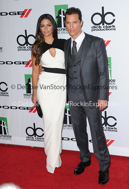 Camila Alves and Matthew McConaughey attends The 17th Annual Hollywood Film Awards held at The Beverly Hilton Hotel in Beverly Hills, California on October 21,2012                                                                               © 2013 Hollywood Press Agency