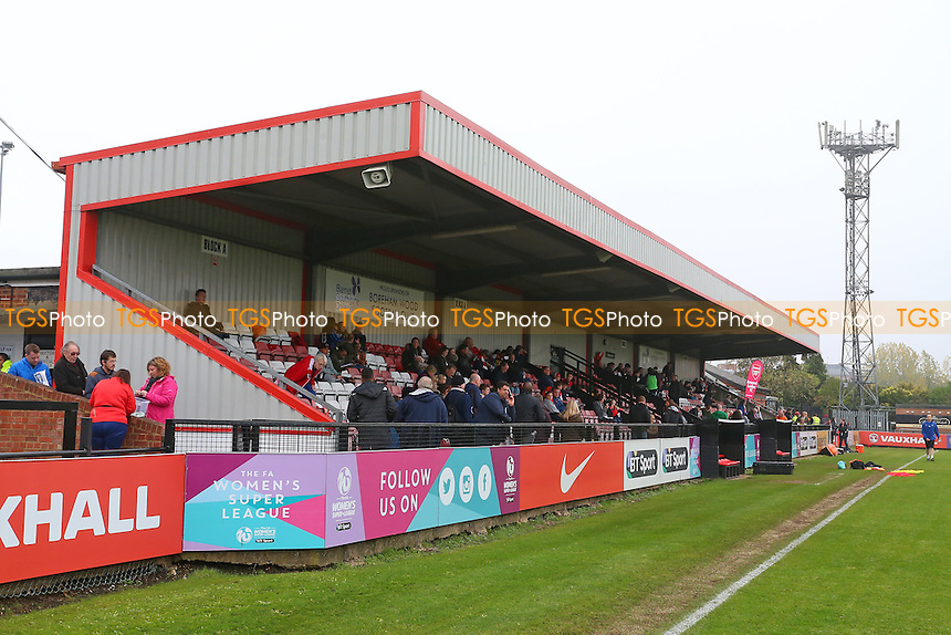 General view of the main stand during Arsenal Ladies vs Doncaster Rovers Belles, FA Women's Super League FA WSL1 Football at Meadow Park, Boreham Wood FC on 30th October 2016