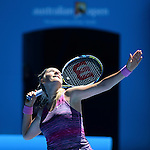 Victoria Azarenka (BLR) loses to Agnieszka Radwanska (POL) 6-1, 5-7, 6-0 At the Australian Open in Melbourne, Australia on January 22, 2014