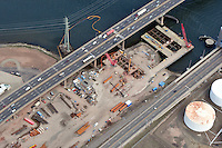 Aerial Photographs of the Pearl Harbor Memorial Bridge New Haven CT 2009 | Detail Views