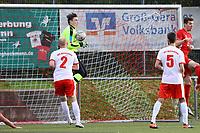 Torwart Max Sandner (SKV Büttelborn) haelt - Büttelborn 31.10.2017: SKV Büttelborn vs. TSV Höchst