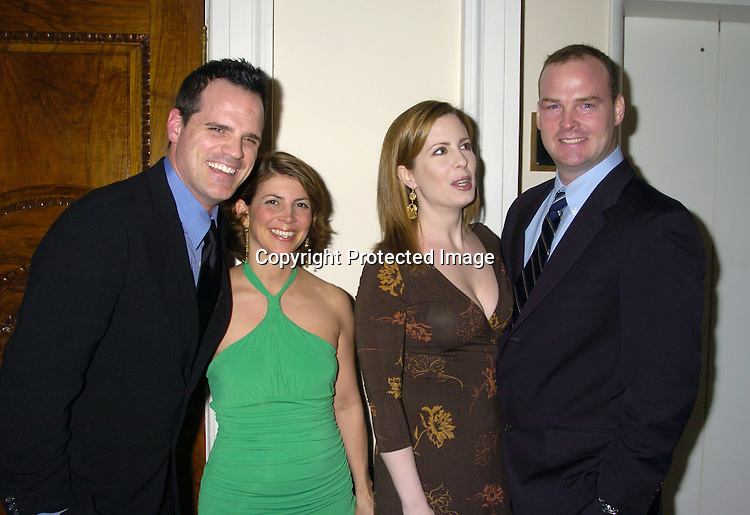 Michael Park and wife Laurie and Martha Byrne and husband Michael McMahon..at The Black Tie and Blackjack Casino NIght in support of The Leukemia & Lymphoma Society at The Downtown Association on February 12, 2005. ..Photo by Robin Platzer, Twin Images