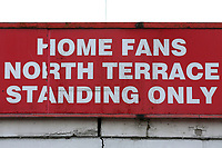 The North Terrace sign during Stevenage vs Reading, Emirates FA Cup Football at the Lamex Stadium on 6th January 2018