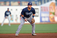 Corpus Christi Hooks third baseman J.D. Davis (26) during a game against the Tulsa Drillers on June 3, 2017 at ONEOK Field in Tulsa, Oklahoma.  Corpus Christi defeated Tulsa 5-3.  (Mike Janes/Four Seam Images)