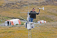 David Hik at Pika Camp, an alpine research field camp in the Ruby Range near Kluane Lake Research Station, Yukon