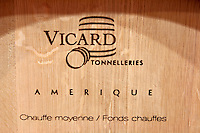 Barrel from American oak medium toast by Vicard coopers bodegas frutos villar , cigales spain castile and leon