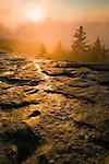 Sunrise and breaking storm, Beacon Heights, Blue Ridge Parkway, North Carolina