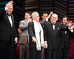 "Neil Simon, Sean Hayes, Hal David, Rob Ashford.taking a bow on the  Opening Night Broadway performance Curtain Call for ""PROMISES, PROMISES"" at the Broadway Theatre, New York City..April 25, 2010."