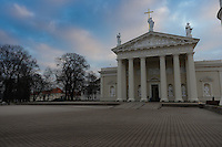 Vilnius Cathedral - the prime landmark of Vilnius, Lithuania