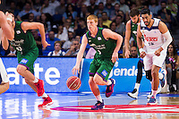 Real Madrid's player Gustavo Ayon and Unicaja Malaga's player Alberto Diaz during match of Liga Endesa at Barclaycard Center in Madrid. September 30, Spain. 2016. (ALTERPHOTOS/BorjaB.Hojas) /NORTEPHOTO