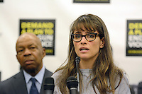 Washington, DC - February 6: Actress Amanda Peet attends a press conference to call on Congress to act on President Obama's plan to reduce gun violence, including background checks for all gun sales and an assault weapons ban at US Capitol in Washington DC on Feb. 6, 2013.RTNSykes / MediaPunch Inc /NortePhoto