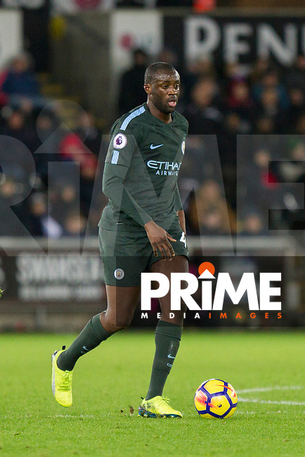 Yaya Toure of Manchester City during the EPL - Premier League match between Swansea City and Manchester City at the Liberty Stadium, Swansea, Wales on 13 December 2017. Photo by Mark  Hawkins / PRiME Media Images.