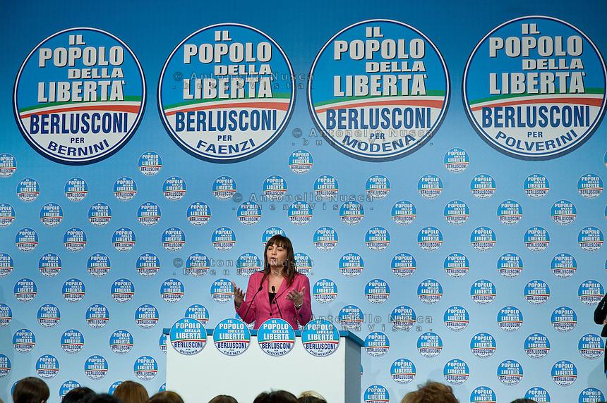 Roma, 16 Febbraio, 2010. Campagna elettorale del PDL per le elezioni regionali