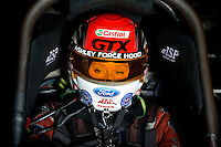 Sept. 5, 2010; Clermont, IN, USA; NHRA funny car driver Ashley Force Hood during qualifying for the U.S. Nationals at O'Reilly Raceway Park at Indianapolis. Mandatory Credit: Mark J. Rebilas-