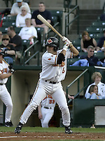 May 10, 2004:  Augie Ojeda of the Rochester Red Wings, Triple-A International League affiliate of the Minnesota Twins, during a game at Frontier Field in Rochester, NY.  Photo by:  Mike Janes/Four Seam Images
