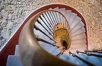 """Europe/France/Aquitaine/40/Landes/ Roquefort: Hôtel de Charme """"Le Logis de Saint-Vincent"""" situé dans une ancienne demeure de maitre: l'escalier"""