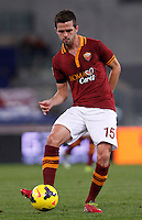 Calcio, Serie A: Roma vs Cagliari. Roma, stadio Olimpico, 25 novembre 2013.<br /> AS Roma midfielder Miralem Pjanic, of Bosnia, in action during the Italian Serie A football match AS Roma and Cagliari between AS Roma and Cagliari at Rome's Olympic stadium, 25 November 2013.<br /> UPDATE IMAGES PRESS/Isabella Bonotto