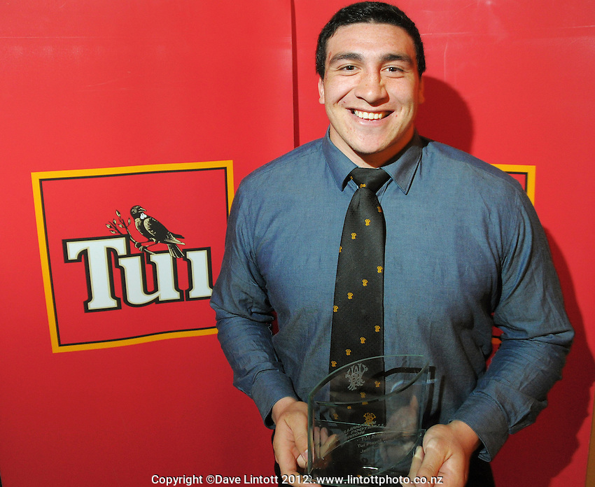 Wellington Lions player of the Year Jeffrey Toomaga-Allen at the Wellington Rugby Union Tui Awards at the Embassy Theatre, Wellington, New Zealand on Tuesday, 30 October 2012. Photo: Dave Lintott / lintottphoto.co.nz