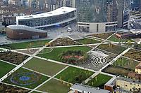 - Milano, veduta dalla terrazza panoramica del palazzo Regione Lombardia, il parco Biblioteca degli Alberi<br /> <br /> - Milan, view from the rooftop terrace of the Lombardy Region building,  the Trees Library park