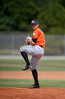 Miami Marlins pitcher Josh Alberius (14) during a Minor League Spring Training game against the St. Louis Cardinals on March 26, 2018 at the Roger Dean Stadium Complex in Jupiter, Florida.  (Mike Janes/Four Seam Images)