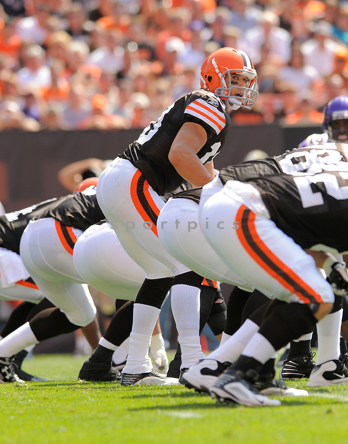 BRADY QUINN,  of the Cleveland Browns  in action  during the Browns game against the Minnesota VIkings in Clevedland, OH on September 13, 2009.The  Vikings beat the Browns  34-20...SportPics..