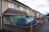 Pictured: The house in the Alltwen area of Pontardawe, south Wales where a four year old boy died in a fire. Wednesday 27 July 2016<br /> Re: A four-year-old boy has died following a fire at a house in Neath Port Talbot.<br /> Fire crews were called to the property in Lon Tanyrallt, Alltwen, near Pontardawe, at 1.40am on Wednesday.<br /> They rescued the boy from an upstairs bedroom in the two-storey semi-detached house but he died at the scene.<br /> A three-year-old boy was also rescued and take to hospital along with his sister, six, and mother who had both managed to escape the blaze.<br /> They were all suffering from suspected smoke inhalation.<br /> Mid and West Wales Fire and Rescue Service said the woman, who is believed to be in her 20s, called for help and neighbours tried to get in to help the stranded children.