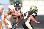 Palos Verdes, CA 09/22/11 - Garrett Nelsen (Peninsula #88)) in action during the Beverly Hills-Peninsula Varsitty Football gane.
