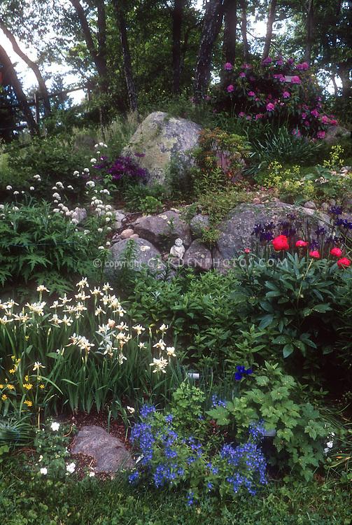 Spring hilly perennial garden of flowers plant flower for Spring hill nursery garden designs