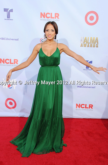 PASADENA, CA - SEPTEMBER 16: Dania Ramirez arrives at the 2012 NCLR ALMA Awards at Pasadena Civic Auditorium on September 16, 2012 in Pasadena, California.