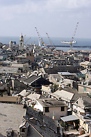 Veduta di Genova, col porto antico sullo sfondo.<br /> Cityscape of Genoa, with the old port on background.<br /> UPDATE IMAGES PRESS/Riccardo De Luca