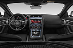 Stock photo of straight dashboard view of 2019 Jaguar F-Type R-Dynamic 2 Door Coupe Dashboard