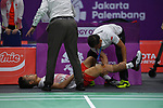 Ginting Sinisuka (INA), <br /> AUGUST 22, 2018 - Badminton : Men's Team Final match between China - Indonesia at Gelora Bung Karno Istora during the 2018 Jakarta Palembang Asian Games in Jakarta, Indonesia. <br /> (Photo by MATSUO.K/AFLO SPORT)