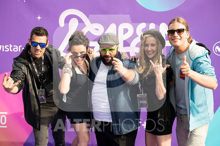 "The jury of the program with Dani Reus attends to the presentation of the new Movistar+ Talent Show, ""Acapela"" for channel #0 in Madrid. May 26, 2016. (ALTERPHOTOS/Borja B.Hojas)"