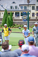 Thorbjorn Olesen (DEN) watches his tee shot on 8 during Saturday's round 3 of the PGA Championship at the Quail Hollow Club in Charlotte, North Carolina. 8/12/2017.<br /> Picture: Golffile | Ken Murray<br /> <br /> <br /> All photo usage must carry mandatory copyright credit (&copy; Golffile | Ken Murray)