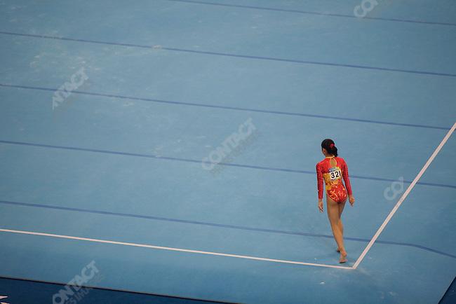Women' Gymnastics Team finals, Cheng Fei (China) - gold, Summer Olympics, Beijing, China, August 13, 2008.