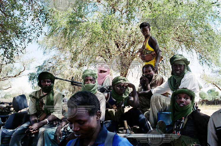 Soldiers from the Sudan Liberation Army (SLA) in Muhadjeria, south Darfur.
