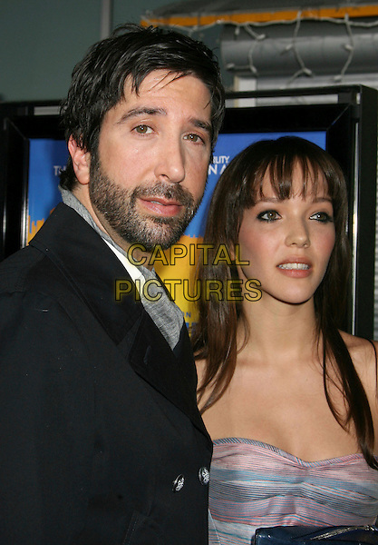 "DAVID SCHWIMMER & ZOE BUCKMAN .""Run Fat Boy Run"" Los Angeles Premiere held at the ArcLight Cinemas, Hollywood, California , USA, .24 March 2008..portrait headshot beard   .CAP/ADM/RE.©Russ Elliot/Admedia/Capital PIctures"