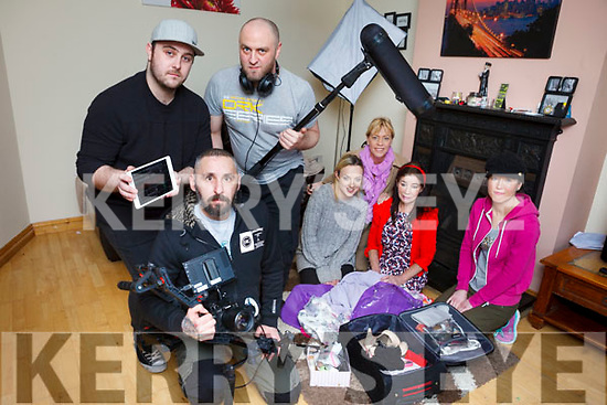 Focusing on the issue of domestic violence, a group began filming 'Silence is Golden: From Birth to Death' and plan to enter it into a number of film festivals. Pictured are: Kevin Maye (Eagle Sky Media), Evan Fitzpatrick and Gary Maher (GEM Audio Solutions), pictured with Selina Switzer, Rebecca Kemp, Miriam Moriarty Owens and Mary Tuohy.