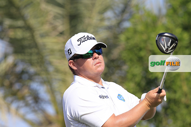 George Coetzee (RSA) tees off the 2nd tee during Friday's Round 2 of the Abu Dhabi HSBC Golf Championship 2015 held at the Abu Dhabi Golf Course, United Arab Emirates. 16th January 2015.<br /> Picture: Eoin Clarke www.golffile.ie