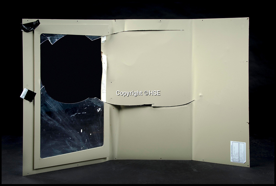 BNPS.co.uk (012902 558833)<br /> Pic: HSE/BNPS<br /> <br /> The broken vision panel fitted to the lift.<br /> <br /> Two companies responsible for an appalling catalogue of failures that led to the death of a five-year-old girl in her home have today been fined more than £1.5m.<br /> <br /> Alexys Brown died of severe head injuries after getting it trapped in a broken door panel of a disability lift that was for her wheelchair-bound  brother Jack.<br /> <br /> As the lift ascended her head crushed against the ceiling in her home in Weymouth, Dorset, in August 2015.<br /> <br /> Landlord Synergy Housing and lift maintenance form Orona Ltd admitted breaching health and safety laws and were fined at Bournemouth Crown Court.