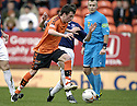 23/02/2008    Copyright Pic: James Stewart.File Name : sct_jspa03_dundeee_utd_v_falkirk.DANNY SWANSON GOES PAST KEVIN MCBRIDE.James Stewart Photo Agency 19 Carronlea Drive, Falkirk. FK2 8DN      Vat Reg No. 607 6932 25.Studio      : +44 (0)1324 611191 .Mobile      : +44 (0)7721 416997.E-mail  :  jim@jspa.co.uk.If you require further information then contact Jim Stewart on any of the numbers above........