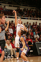 23 February 2006: Krista Rappahahn during Stanford's 100-69 win over the Washington Huskies at Maples Pavilion in Stanford, CA.