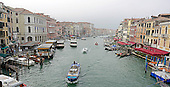 View of the Grand Canal in Venice, Italy from the middle of the Rialto Bridge on Monday, October 28, 2013.<br /> Credit: Ron Sachs / CNP