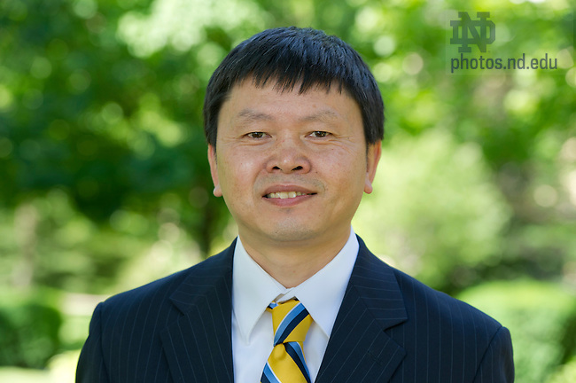 July 13, 2012; Bei Hu, associate dean, College of Science. Photo by Barbara Johnston/University of Notre Dame