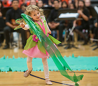 NWA Democrat-Gazette/ANTHONY REYES • @NWATONYR<br /> Images from the Rogers Heritage Homecoming rally Friday, Sept. 25, 2015 at the school in Rogers. The event including the introduction of the 2015 homecoming court, musical performances, dancing and a pep rally for a football game against Springdale.