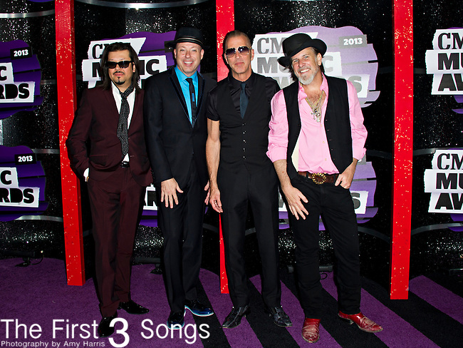 The Mavericks arrive at the 2013 CMT Music Awards at Bridgestone Arena in Nashville, Tennessee.