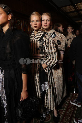 Simone Rocha <br /> backstage  at fashion show at London Fashion Week Spring Summer 2018 in London, England in September 2017. CAP/GOL<br /> &copy;GOL/Capital Pictures<br /> CAP/GOL<br /> &copy;GOL/Capital Pictures /MediaPunch ***NORTH AND SOUTH AMERICAS ONLY***