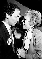"Montreal (QC) Canada- -July 31 1984  File Photo - <br /> Sheila Finestone (R) choosen as liberal candiate for the  riding of Mount Royal over William Dery (L)... In 1984 she was elected as a Liberal Member of Parliament for the Montreal riding of Mount Royal. She was re-elected in the 1988, 1993 and 1997 elections.<br /> <br /> Finestone was sworn to the Privy Council in November 1993 as Secretary of State (Multiculturalism and Status of Women). Finestone was appointed to the Senate of Canada in August 1999. She completed her term in the Senate in 2002 when she reached the mandatory retirement age of 75.<br /> <br /> She was a member of the board of the Canadian Landmine Foundation.<br /> <br /> In 2008, Finestone was the recipient of the Distinguished Service Award of the Canadian Association of Former Parliamentarians,[2] ""presented annually to a former parliamentarian who has made an outstanding contribution to the country and its democratic institutions.""[3] The award was accepted on her behalf by her son Peter, due to Finestone's inability to attend, following health challenges.[4]"