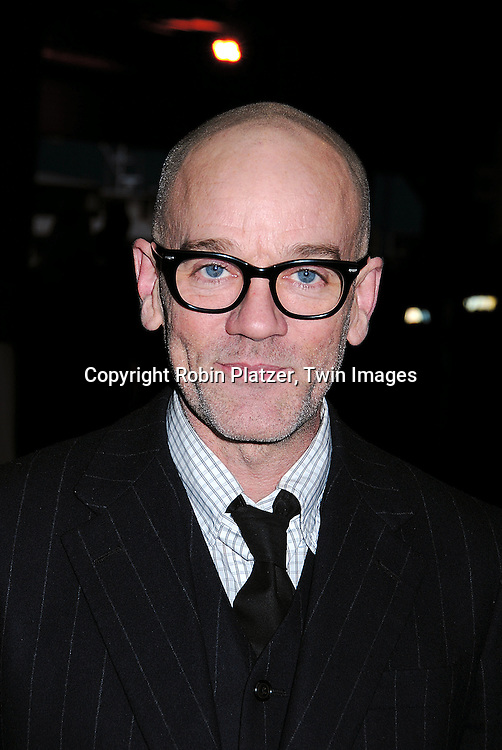 Michael Stipe..arriving at The Food Bank for New York City's 5th Annual..Can-Do Awards Dinner at Pier Sixty at Chelsea Piers in..New York City on April 7, 2008. ..Robin Platzer, Twin Images